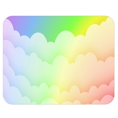 Cloud Blue Sky Rainbow Pink Yellow Green Red White Wave Double Sided Flano Blanket (medium)  by Mariart