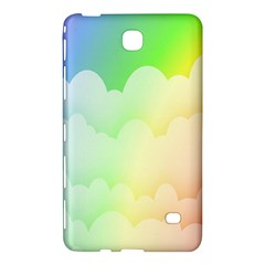 Cloud Blue Sky Rainbow Pink Yellow Green Red White Wave Samsung Galaxy Tab 4 (8 ) Hardshell Case  by Mariart