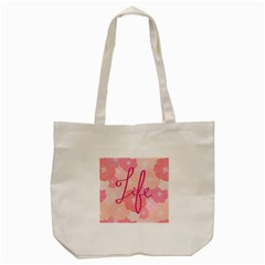 Life Typogrphic Tote Bag (cream) by Nexatart