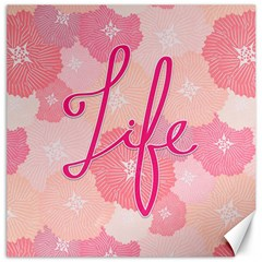Life Typogrphic Canvas 20  X 20   by Nexatart
