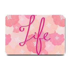 Life Typogrphic Small Doormat