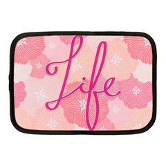 Life Typogrphic Netbook Case (medium)