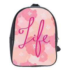 Life Typogrphic School Bags(large)  by Nexatart