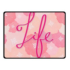 Life Typogrphic Fleece Blanket (small)
