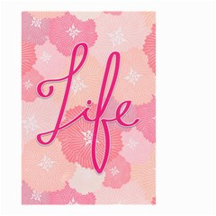 Life Typogrphic Small Garden Flag (two Sides)