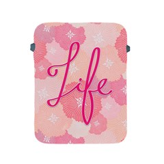 Life Typogrphic Apple Ipad 2/3/4 Protective Soft Cases by Nexatart