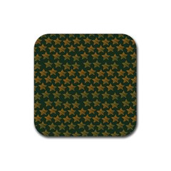 Stars Pattern Background Rubber Square Coaster (4 Pack)
