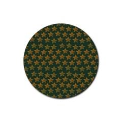 Stars Pattern Background Rubber Round Coaster (4 Pack)