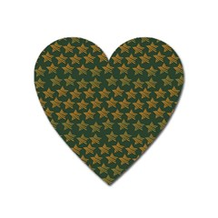 Stars Pattern Background Heart Magnet by Nexatart