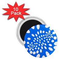 Circles Polka Dot Blue White 1 75  Magnets (10 Pack)  by Mariart