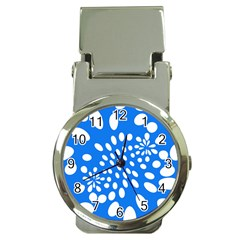 Circles Polka Dot Blue White Money Clip Watches by Mariart