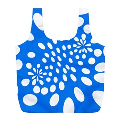 Circles Polka Dot Blue White Full Print Recycle Bags (l)  by Mariart