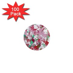 Confetti Hearts Digital Love Heart Background Pattern 1  Mini Magnets (100 Pack)