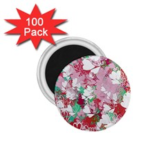 Confetti Hearts Digital Love Heart Background Pattern 1 75  Magnets (100 Pack)