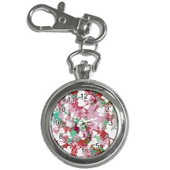 Confetti Hearts Digital Love Heart Background Pattern Key Chain Watches