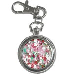 Confetti Hearts Digital Love Heart Background Pattern Key Chain Watches Front