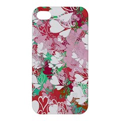 Confetti Hearts Digital Love Heart Background Pattern Apple Iphone 4/4s Hardshell Case by Nexatart