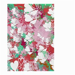 Confetti Hearts Digital Love Heart Background Pattern Small Garden Flag (two Sides) by Nexatart