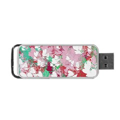 Confetti Hearts Digital Love Heart Background Pattern Portable Usb Flash (two Sides) by Nexatart