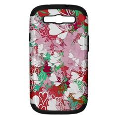 Confetti Hearts Digital Love Heart Background Pattern Samsung Galaxy S Iii Hardshell Case (pc+silicone) by Nexatart