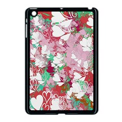 Confetti Hearts Digital Love Heart Background Pattern Apple Ipad Mini Case (black)
