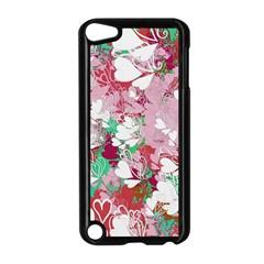 Confetti Hearts Digital Love Heart Background Pattern Apple Ipod Touch 5 Case (black) by Nexatart