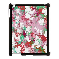 Confetti Hearts Digital Love Heart Background Pattern Apple Ipad 3/4 Case (black) by Nexatart