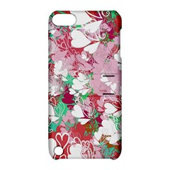 Confetti Hearts Digital Love Heart Background Pattern Apple Ipod Touch 5 Hardshell Case With Stand by Nexatart