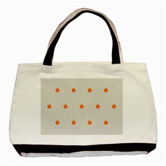 Diamond Polka Dot Grey Orange Circle Spot Basic Tote Bag by Mariart