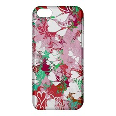 Confetti Hearts Digital Love Heart Background Pattern Apple Iphone 5c Hardshell Case by Nexatart