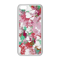 Confetti Hearts Digital Love Heart Background Pattern Apple Iphone 5c Seamless Case (white) by Nexatart