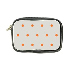 Diamond Polka Dot Grey Orange Circle Spot Coin Purse by Mariart