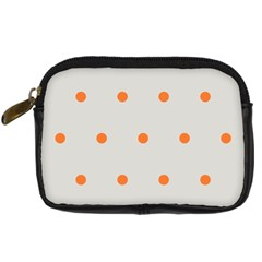 Diamond Polka Dot Grey Orange Circle Spot Digital Camera Cases by Mariart