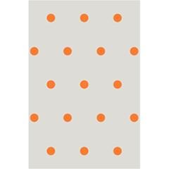 Diamond Polka Dot Grey Orange Circle Spot 5 5  X 8 5  Notebooks by Mariart
