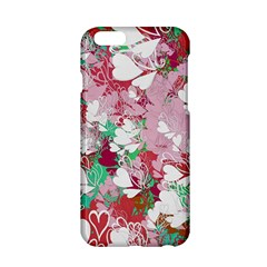 Confetti Hearts Digital Love Heart Background Pattern Apple Iphone 6/6s Hardshell Case by Nexatart