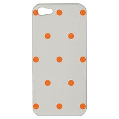 Diamond Polka Dot Grey Orange Circle Spot Apple Iphone 5 Hardshell Case by Mariart