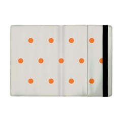Diamond Polka Dot Grey Orange Circle Spot Apple Ipad Mini Flip Case by Mariart