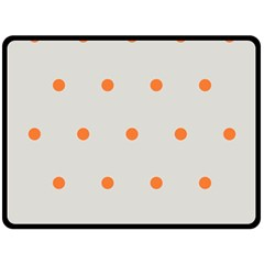Diamond Polka Dot Grey Orange Circle Spot Double Sided Fleece Blanket (large)  by Mariart