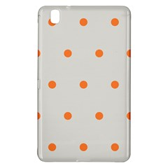 Diamond Polka Dot Grey Orange Circle Spot Samsung Galaxy Tab Pro 8 4 Hardshell Case by Mariart
