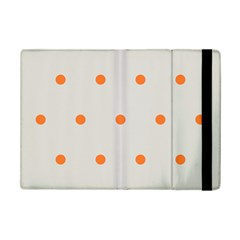 Diamond Polka Dot Grey Orange Circle Spot Ipad Mini 2 Flip Cases by Mariart