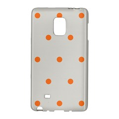 Diamond Polka Dot Grey Orange Circle Spot Galaxy Note Edge by Mariart