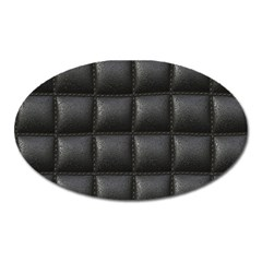 Black Cell Leather Retro Car Seat Textures Oval Magnet by Nexatart