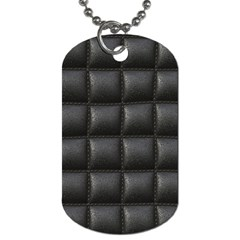 Black Cell Leather Retro Car Seat Textures Dog Tag (one Side) by Nexatart