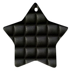 Black Cell Leather Retro Car Seat Textures Star Ornament (two Sides) by Nexatart