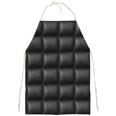 Black Cell Leather Retro Car Seat Textures Full Print Aprons