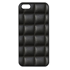 Black Cell Leather Retro Car Seat Textures Apple Iphone 5 Seamless Case (black)
