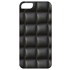 Black Cell Leather Retro Car Seat Textures Apple Iphone 5 Classic Hardshell Case