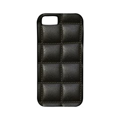 Black Cell Leather Retro Car Seat Textures Apple Iphone 5 Classic Hardshell Case (pc+silicone)