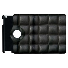 Black Cell Leather Retro Car Seat Textures Apple Ipad 3/4 Flip 360 Case