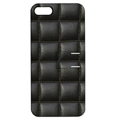 Black Cell Leather Retro Car Seat Textures Apple Iphone 5 Hardshell Case With Stand by Nexatart